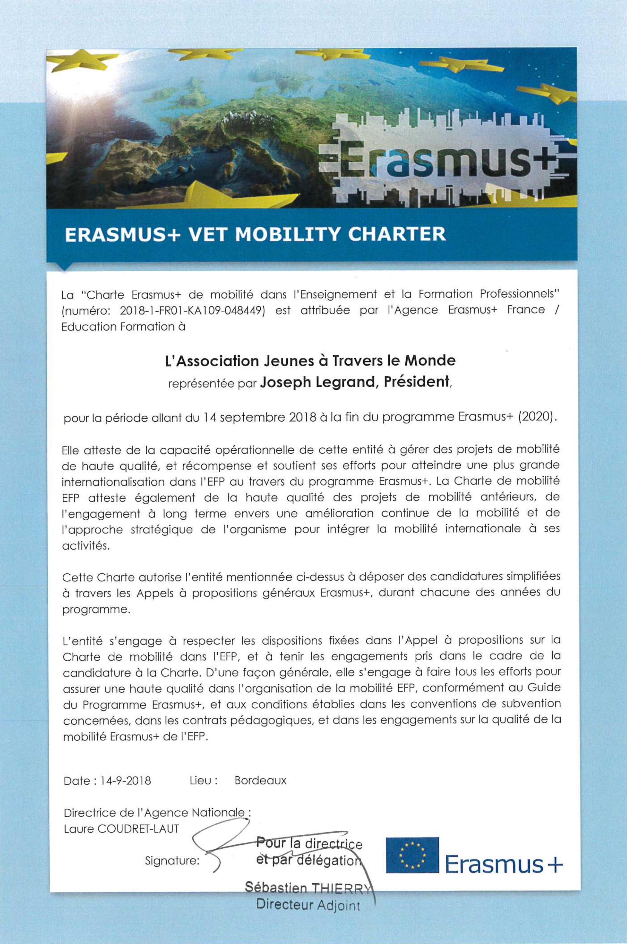 Charte Erasmus+